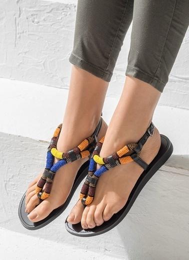 Taşlı Sandalet-Elle